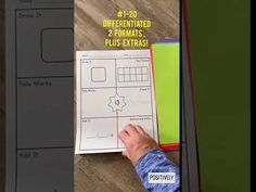 This is HUGE set of DIFFERENTIATED printables for Number of the Day activities. I used these with my first grade small math intervention groups. Math Pages, Engage Ny, Inclusion Classroom, Eureka Math, Subitizing, Tally Marks, Math Groups, Math Intervention, Number Words