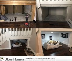 This guy built his dog a separate room in his house