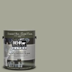 1-Gal. #UL200-6 Simply Sage Interior Semi-Gloss Enamel Paint-375401 at The Home Depot  kitchen??