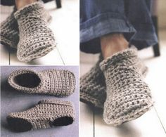 Crochet Slipper Boots Free Pattern