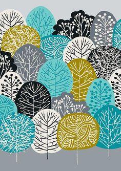 Bleu forêt édition limitée giclée par EloiseRenouf sur Etsy