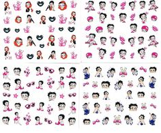 150 Betty Boop Nail Art Sticker Decal >>> Click on the image for additional details.