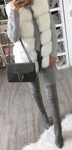 608d49994b 50 Best white fur vest images