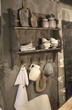 Kitchen rack from Hoffz. Can of course also be used as a coat rack. Rustic House, Country Decor, Decor, House Interior, Rustic Living, Home, Interior, Prim Decor, Home Decor