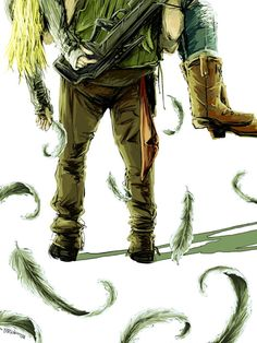 Daryl...holding Beth in his arms as the feathers from his wings fall... :( RIP Beth... Her death was so impactful