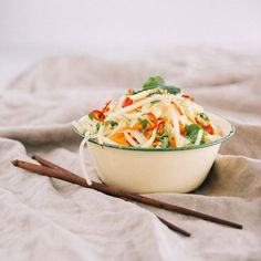 Nothing compares to a really good Green Papaya Salad! Recipe featured in our 'Gut Matters' Recipe Book. Available in the Food Matters Store on the website  #FMkitchen #foodmatters