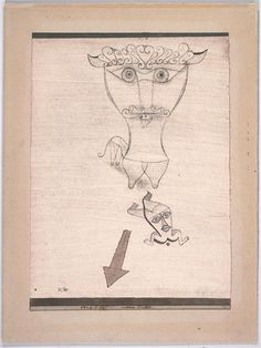 1923 Paul Klee 'Antike Fabel'( Ancient Fable).