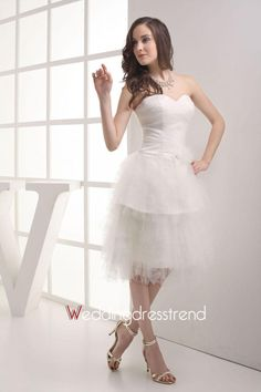Beautiful Modest Sweetheart Tiered Ruffles Tulle Dress - Cheap Tulle Dresses Wholesale and Retail Online Store