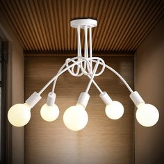 E27 Korean Creative Lighting Art Minimalist Living Room Bedroom Pendant Light Fixture AC110-240V