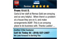 Carla & her staff at Remax Gold are amazing and so very helpful.  When there's a problem...