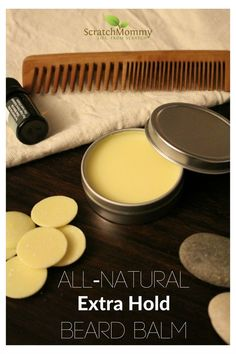 DIY, All-Natural, Extra Hold Beard Balm - Scratch Mommy.  Tame The Mane! #beards