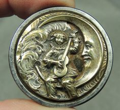 Great moon! Antique button.