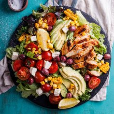 This peri-peri chicken salad is perfect for lunch or a healthy dinner and the spicy peri-peri marinade on the chicken will have you coming back for more.