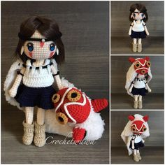 """216 Likes, 24 Comments - Crochet Wawa (@crochetwawa) on Instagram: """"So glad that I managed to finish #San of #princessmononoke in time and now..to rest the hooks and…"""""""