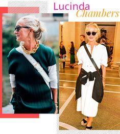 Lucinda Chambers - fashion - estilo sem idade - over 50 - tendências Carla Bruni, Diane Keaton, Julianne Moore, Anna Wintour, Celine Dion, Michelle Obama, Lucinda Chambers, Vogue, Over 50