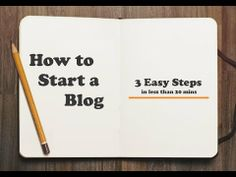 Video on How To Start Your #Blog in 3 Easy Steps (under 20 mins)