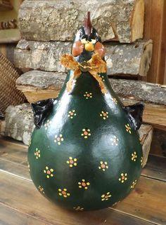 Daisy Mae Gourd Art Sculpture
