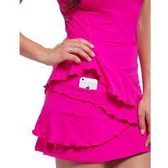 Ella Belle Flirt Skirt with hip pocket Golf Skirts, Cute Skirts, Bright Skirts, Tennis Wear, Golf Wear, Golf Attire, Golf Outfit, Girls Golf, Ladies Golf