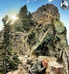 #art #fantasy #cakkocem #wallpaper #landscape #cliff #rocks #sculpture #statue #livingoutdoor #photography #photomanipulation #manipulation #imagemanipu... - Cak Kocem fantasy waterfall - Google+