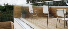 Glasräcke modell DuoRailing i aluminiumskena