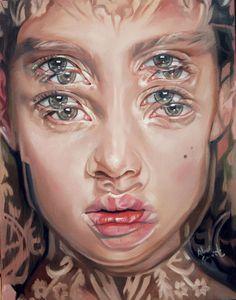 """Quadri surrealisti di Alex Garant - """"All of her"""" - Olio su tela"""