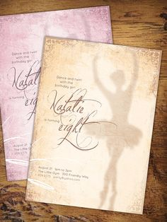Customizable Vintage Ballerina Birthday Party Invitation - This Vintage Ballerina Party Invitation is a simple and classic way to announce the coming celebration of your little girl! It is a DIY invitation that is customizable with your child's name and age.
