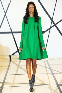 Lisa Perry | Fall 2014 Ready-to-Wear Collection | Style.com Kelly green