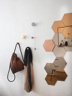 Ikea Hack - Dots als Wandhaken / in gold, kupfer und silber / Schmuckaufbewahrung
