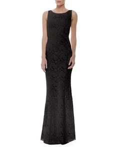 Alice + Olivia Sachi Fitted Lace Gown