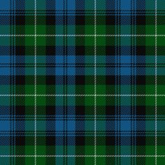 "~++~+~ Lamont Tartan ~+~+~+ This beautiful tartan is predominantly green, light blue, black and white. This clan descends from the original Scots who crossed the sea from Ireland, where their original name meant ""lawgiver"", to found the kingdom of Dalriada. The kindred of Comgall is mentioned as one of the three principal kindreds in the ancient ""Account Of The Men Of Scotland""."