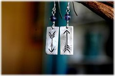 Lionheart...recycled fine silver earrings by barefootbeadz on Etsy