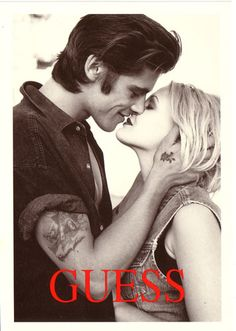 Guess ad Drew Barrymore 1990's  We use to tear the Guess ads out of our Seventeen magazines and hang them in our rooms! We were soo cool