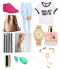 """"""""""" by emojianesa ❤ liked on Polyvore featuring H&M, adidas, MICHAEL Michael Kors, Chanel, Michael Kors, Valentino and Eugenia Kim"""