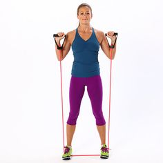 Don& Resist: 4 Beginner Moves With the Band: Resistance bands are a great tool for strength-training newbies. Fitness Tips, Fitness Motivation, Health Fitness, Fitness Gadgets, Fitness Quotes, Resistance Band Exercises, Resistance Tube, Muscle Groups, Sport