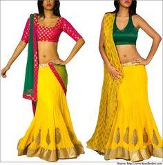 Yellow-Georgette-Lehenga-Indian Wedding Dress