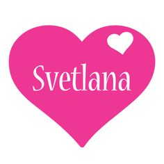Svetlana LOGO * Create Custom Svetlana logo * Love Heart STYLE *