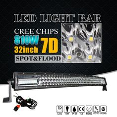 32INCH 810W CREE CURVED LED WORK LIGHT BAR OFFROAD 4WD TRUCK SUV UTE DRIVING ATV