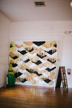 Our handmade photo booth backdrop in all its glory. {DIY instructions care of Mint Loves Social Club @natalie xanthakis }