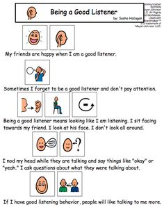 Being a Good Listener - Visual Social Story