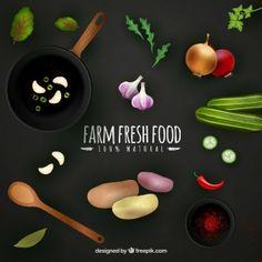 Farm fresh food background