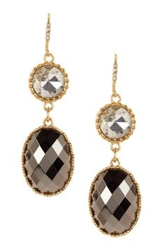 hematite earrings... love.