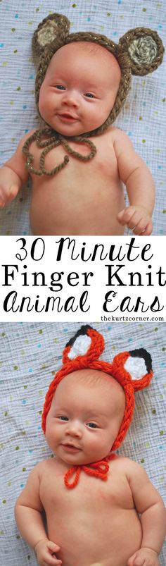 Finger knit animal e