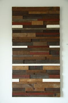 "Wood and Iron Wall Decor | Handmade Reclaimed Wood Wall Art 53""X24""X2"" by Carpenter Craig ..."