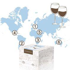 Ein 6 monatige Wein Reise um die Welt. Das Abo endet automatisch und ist da ideale Geschenk für Weinliebhaber. Ein edles und originelles Weingeschenk.
