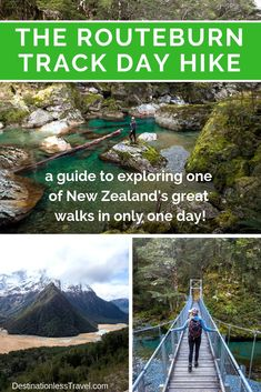 How to Hike the Routeburn Track in ONE Day - 6 Day Hike Itineraries Hiking Places, Hiking Trails, Glenorchy New Zealand, Best Camping Lantern, Milford Track, Great Walks, Hiking With Kids, Colorado Hiking, Viajes
