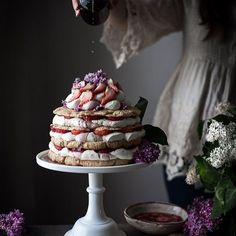 If you still have lilacs in bloom, grab some and make this Lilac-scented Giant Strawberry Shortcake this weekend! Hope you are all having a wonderful Saturday! 💕 . http://thekitchenmccabe.com/2017/05/28/giant-lilac-scented-strawberry-shortcake/ . #refinedsugarfree  #lilacs #lilacsyrup #shortcake #strawberry #strawberryshortcake  #thatsdarling #f52grams #feedfeed @thefeedfeed  #huffposttaste #thatsdarling #foodphotography #foodphotographer #onmytable
