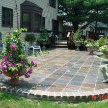 Backyard Ideas Stamped Concrete For Patio Area With Table Html on