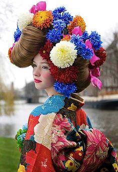 Kimono Allure Fashion photo japanese model