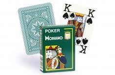 Cartes Modiano 4 index (vert) - Pokeo.fr - Jeu de 52 cartes Modiano 100% plastique 4 index de couleur verte.