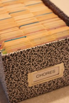 annual household chore system tickler file